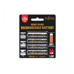 Fujitsu Recharge Battery 2450mAh AAx4pcs